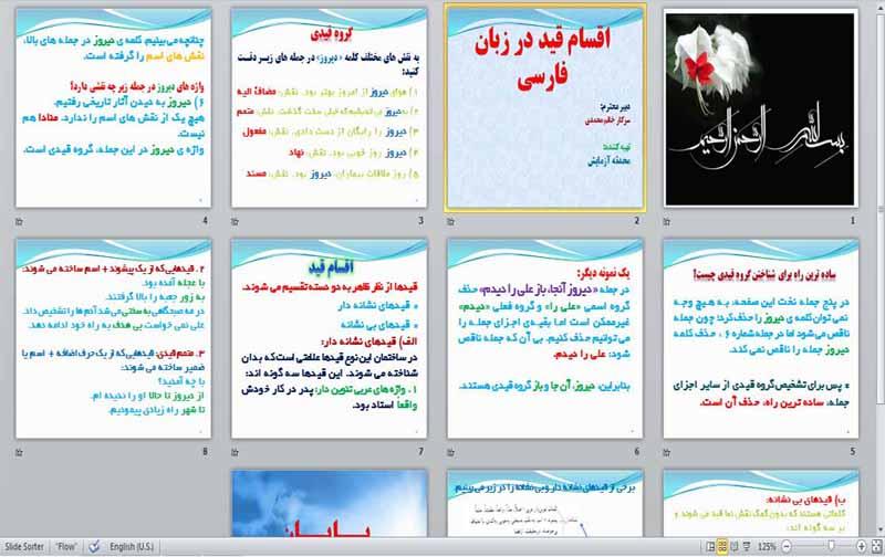 پاورپوئینت ppt در مورد آشنایی با اقسام قيد در زبان فارسی - 11 اسلاید