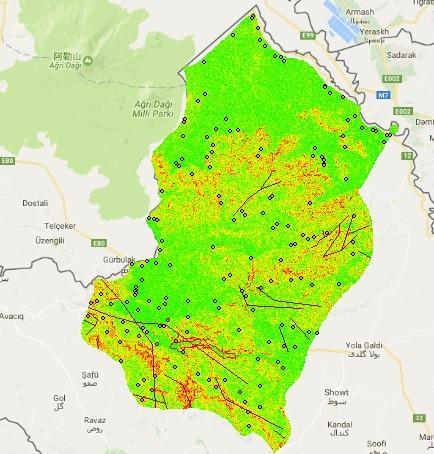 نقشه های GIS شهرستان ماکو