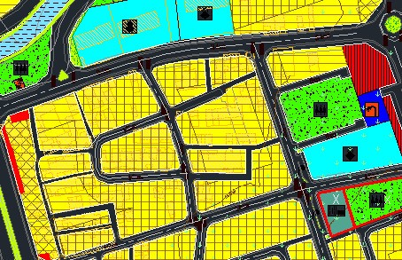 اتوکد طرح تفصیلی شهر نورآباد/ لرستان