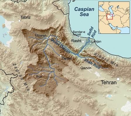 دانلود مدل رقومی ارتفاع (DEM) و مرز حوزه آبخیز سفید رود