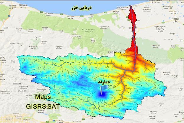 نقشه های GIS  حوزه آبخیز رودخانه هراز مازندران
