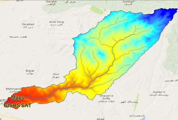 نقشه های GIS حوزه آبخیز قلعه چای عجبشیر استان آذربایجان شرقی