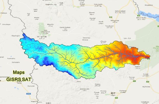نقشه های GIS حوزه آبخیز آق چای استان آذربایجان غربی