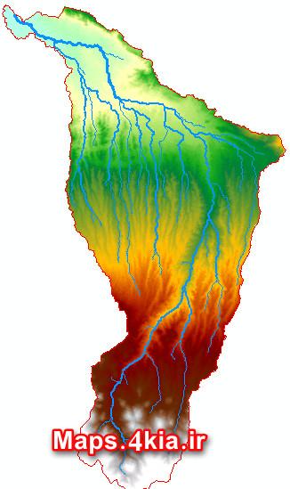 نقشه های GIS حوزه آبخیز رودخانه مهران چای تبریز