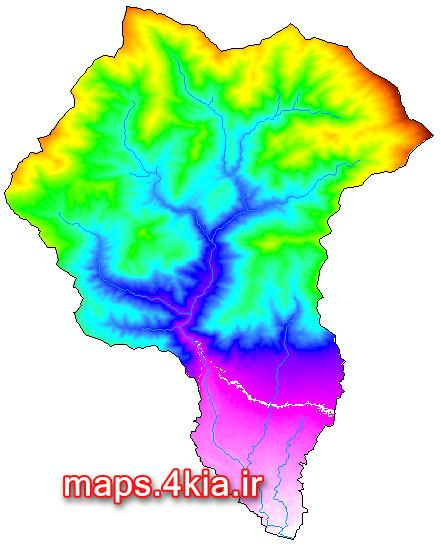 نقشه های GIS حوزه آبخیز رودخانه کن تهران