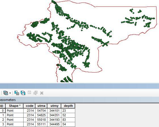 موقعیت نقاط پایش سطح آبهای زیرزمینی آبخوانهای استان اصفهان