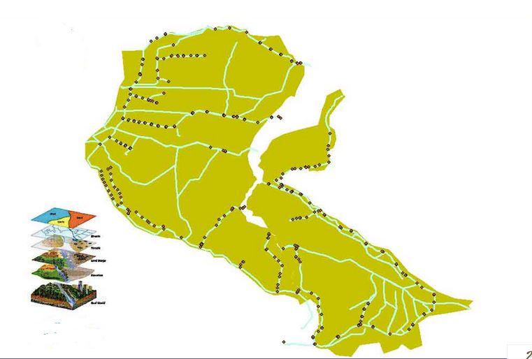 نقشه های GIS مشخصات شبکه آبیاری نکوآباد استان اصفهان