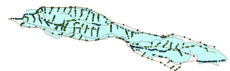 نقشه های GIS مشخصات شبکه آبیاری رودشت استان اصفهان