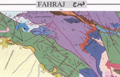 نقشه زمین شناسی فهرج
