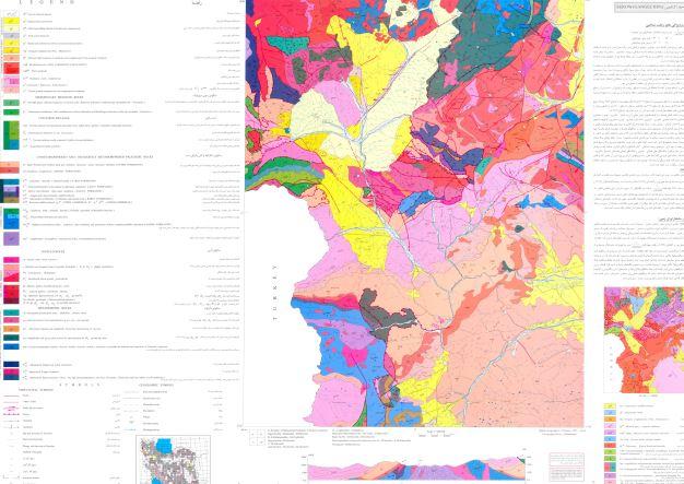 نقشه زمین شناسی  سرو (گنقچین) (1:100000)