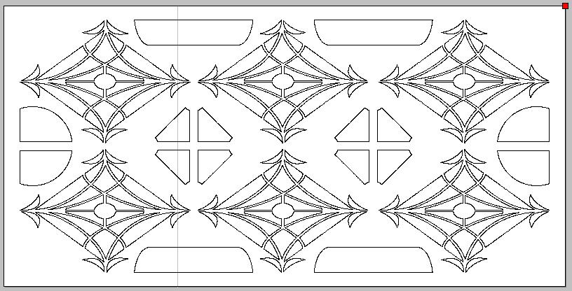 نقشه dxf درب (1)