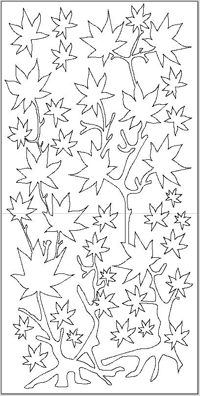 طرح dxf برگ درخت