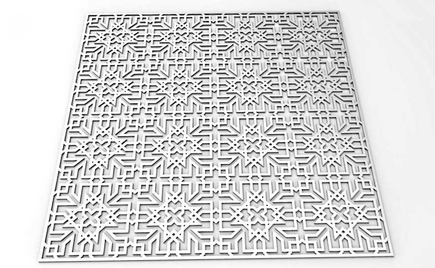 طرح زیبا برای یک پارتیشن -DXF