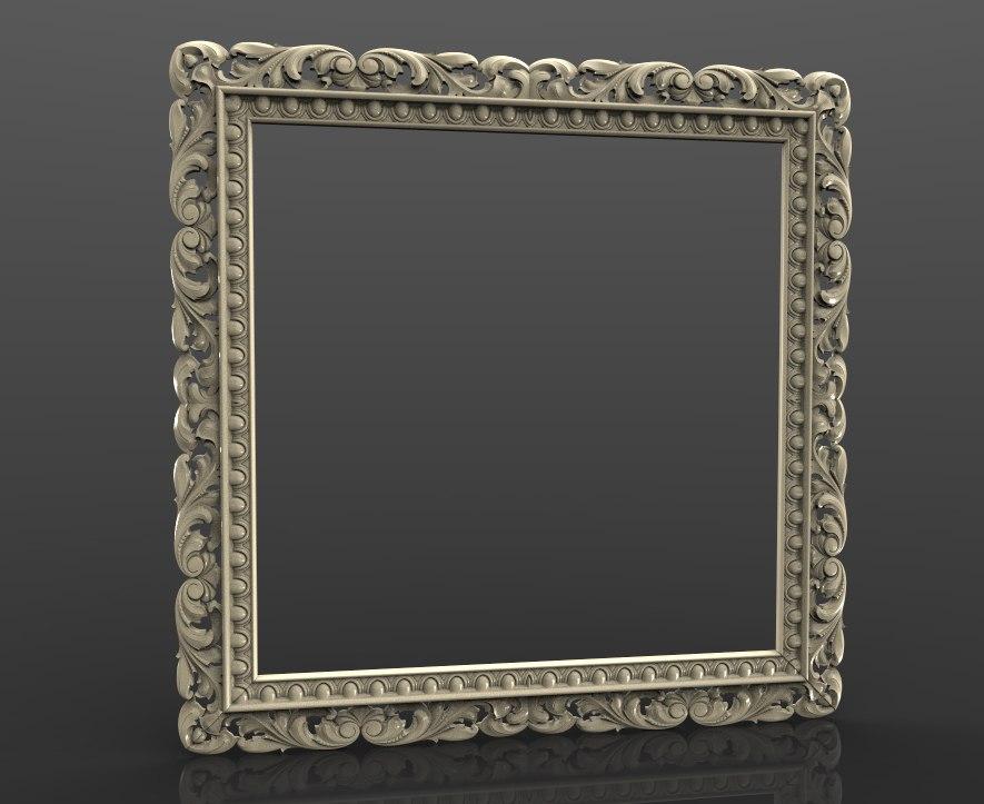 طرح سه بعدی STL آیینه