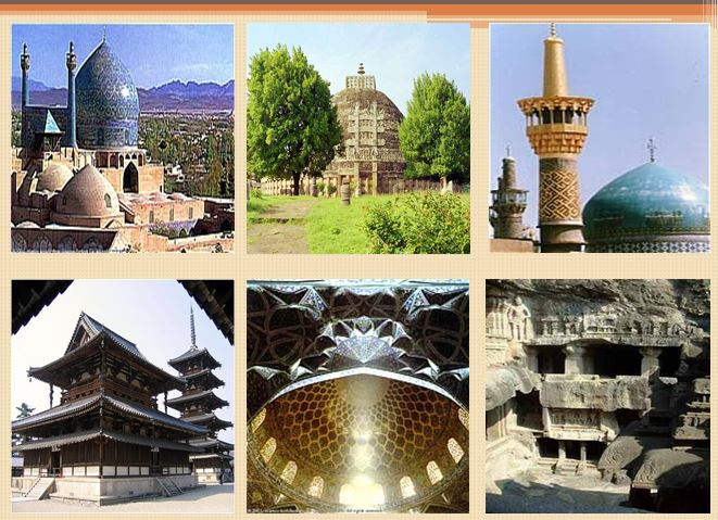 مقایسه تطبیقی بین فضاهای معابد بودایی و مسجد
