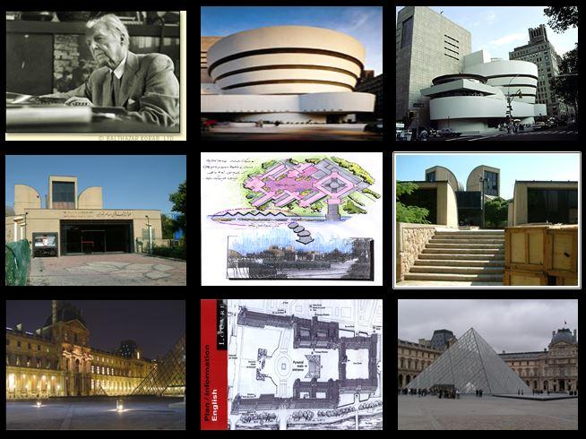 نقد بنای موزه های لوور –هنرهای معاصر-گوگنهایم رایت