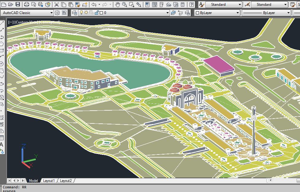دانلود نقشه کامل مجتمع خدماتی بین راهی همراه اتوکد سه بعدی