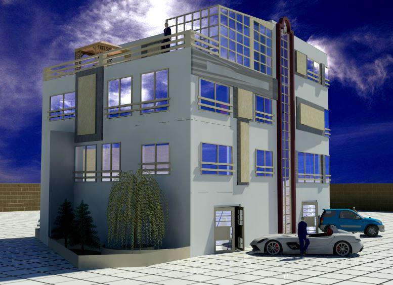 دانلود نقشه کامل خانه مسکونی همراه با فایل تریدی مکس