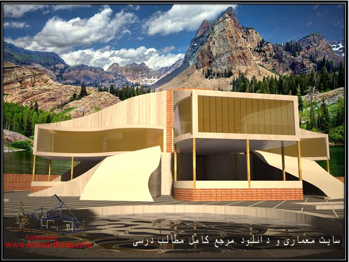 دانلود نقشه کامل طراحی معماری موزه آب همراه با رندرهای ۳max