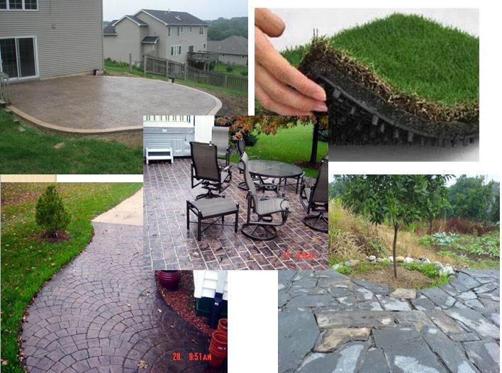 دانلود عناصر محوطه سازی و فضای سبز،سنگ فرش،آب نما ومصالح جدید