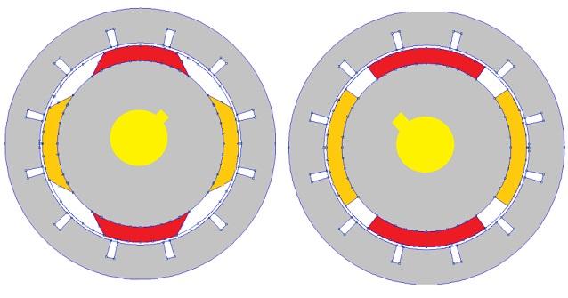 دانلود مقاله اثر مورب نمودن کنارههای آهنربا در کاهش گشتاور دندانه در ماشینهای آهنربای سطحی