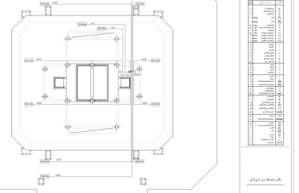 42 نقشه تاسیسات الکتریکی بر روی پلن ساختمانی