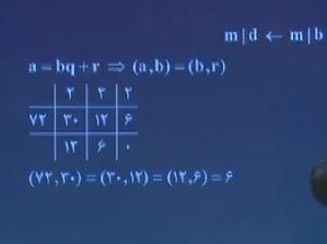 فیلم آموزشی کتاب گسسته مبحث ب.م.م و اعداد متباین