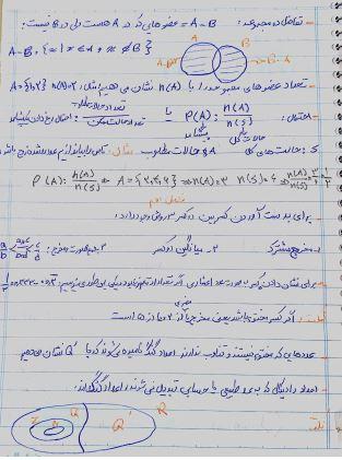 دانلود جزوه دست نویس خلاصه ریاضی نهم دبیرستان pdf