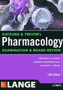 مشخصات وقیمت و خرید و دانلود کتاب فارماکولوژی کاتزونگ و ترور 2019 Katzung & Trevor's Pharmacology Examination and Board Review ویرایش 12  پی دی اف pdf