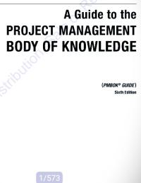 قیمت و خرید و دانلود کتاب Guide to the Project Management Body of Knowledge – 6th edition راهنمای پیکره دانش مدیریت پروژه pm bok6زبان اصلی 573صفحه pdf