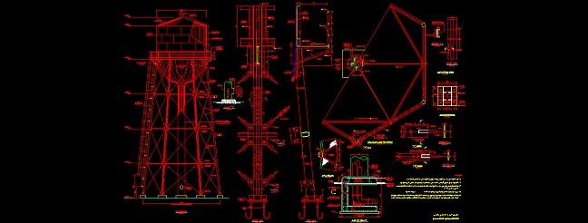 منبع آب هوایی فلزی به ظرفیت 200 متر مکعب