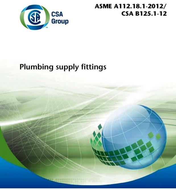 ASME A112.18.1-2012/CSA B125.1-12