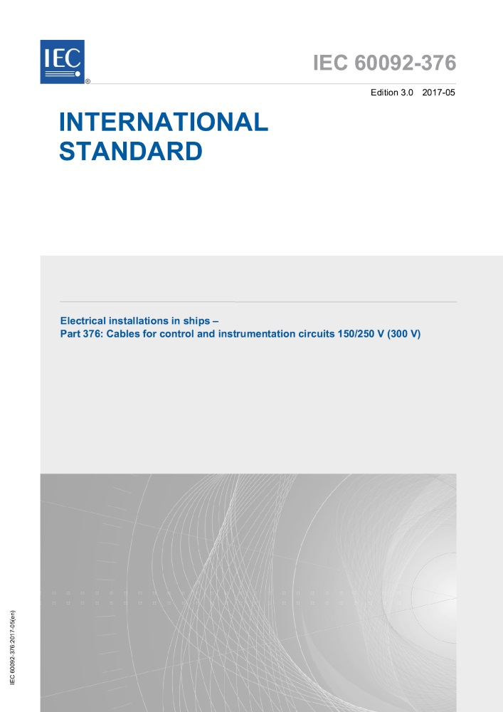 IEC 60092-376: 3017