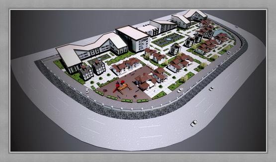 مجتمع مسکونی طرح 5 معماری