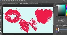 طراحی وکتور لایه باز عاشقانه و رمانتیک
