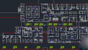دانلود پلان بیمارستان 64 تختخوابی
