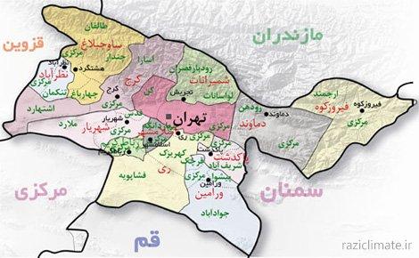 پاورپوینت گامل اقلیم تهران