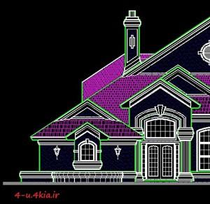 دانلود مجموعه نقشه های اتوکد خانه های ویلایی به سبک آمریکایی ( سری اول )
