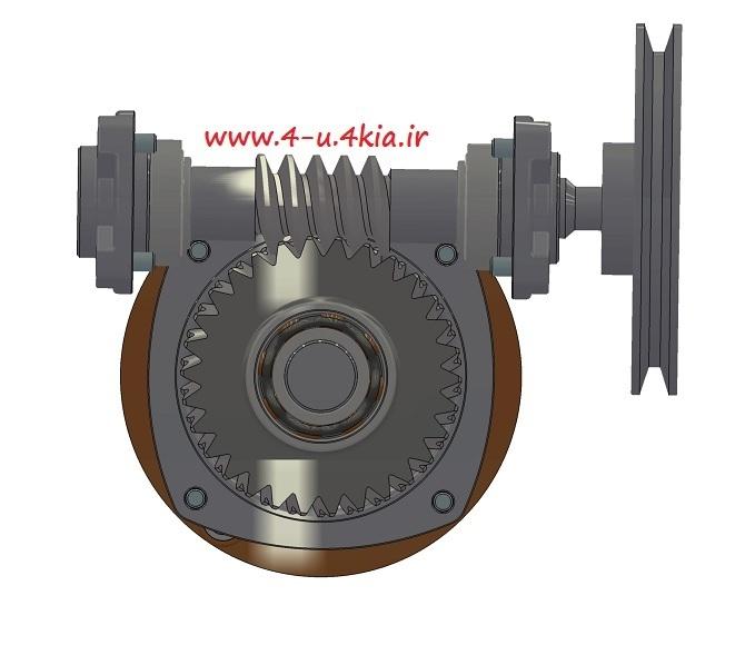 دانلود مدل سه بعدی قطعات گیربکس چرخدنده حلزونی (  Worm Gear Box )