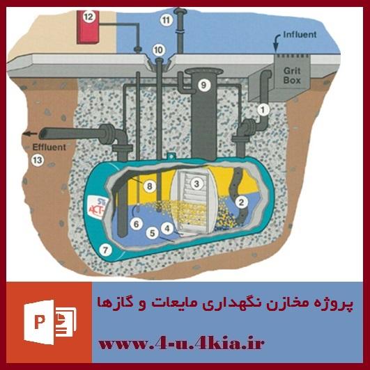 دانلود پروژه مخازن نگهداری مایعات و گاز ها (پاورپوینت)