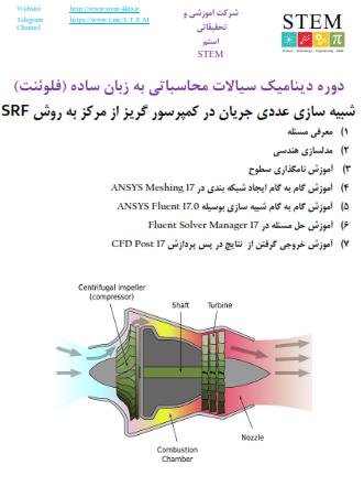 دوره دینامیک سیالات محاسباتی به زبان ساده (فلوئنت) شبیه سازی عددی جریان در کمپرسور گریز از مرکز به روش SRF