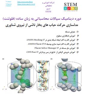 دوره دینامیک سیالات محاسباتی به زبان ساده (فلوئنت) مدلسازی حرکت حباب های بخار ناشی از نیروی شناوری