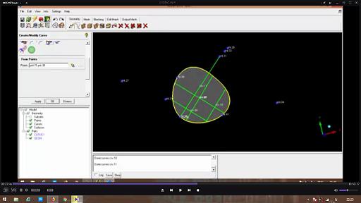 آموزش ویدیویی ICEM CFD جلسه دوم ( انواع ترسیمات هندسی و .......)