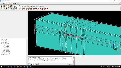 آموزش تولید شبکه بندی باسازمان حول بدنه شناور مدل DTMB 5415  بوسیله ICEM CFD