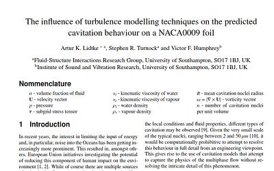 آموزش شبیه سازی کاویتاسیون و نکات توصیه ای برای رسیدن به شبیه سازی موفق براساس مقاله برای هیدروفویل NACA0009 در STAR-CCM