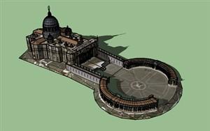 دانلود پاورپوینت بررسی میدان سن پیتر رم + فایل سه بعدی میدان