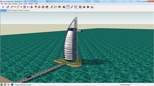دانلود پاورپوینت بررسی برج العرب دبی - به همراه فایل سه بعدی