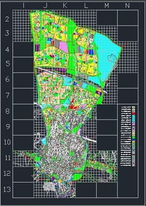 دانلود نقشه اتوکدی طرح تفصیلی شهر قزوین