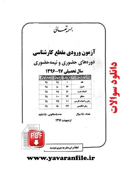 دانلود دفترچه آزمون ورودی مقطع کارشناسی دوره های حضوری و نیمه حضوری موسسه امام خمینی pdf
