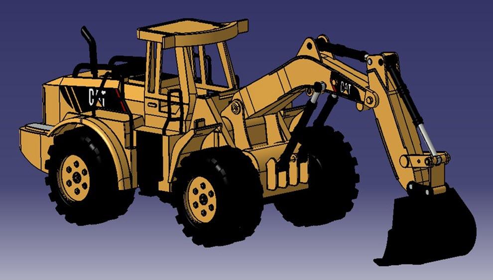 طراحی مدل بیل مکانیکی